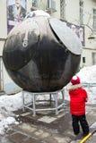 Espacez le lander dans la Chambre centrale de l'aviation et de la cosmonautique Photographie stock