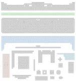 Espaciadores y cabeceras célticos del nudo Imágenes de archivo libres de regalías
