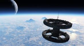 espacial EstaciÃ的³ n 免版税图库摄影
