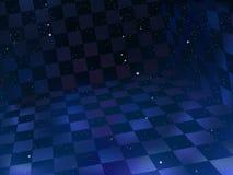 Espacie el tablero de ajedrez ilustración del vector