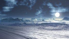 Espacie la tormenta de un planeta extranjero en el cielo