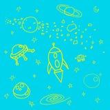 espacio stock de ilustración