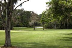 Espacio abierto del campo de golf Imagen de archivo libre de regalías