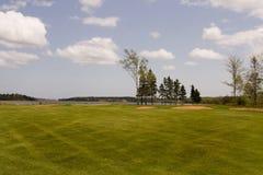 Espacio abierto del golf Fotos de archivo libres de regalías