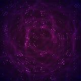 Espacio abstracto con las estrellas púrpuras y de la violeta stock de ilustración
