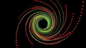 Espacio abstracto del fondo Animación del vuelo en el túnel ilustración del vector