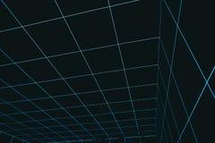 Espacio abstracto fresco de la realidad virtual que va abajo de fondo foto de archivo libre de regalías