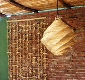 Espacio al aire libre con la lámpara de bambú Imágenes de archivo libres de regalías