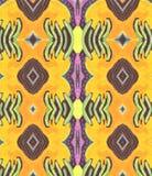 Espacio amarillo púrpura anaranjado de la lila del ornamento Foto de archivo