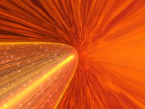 Espacio anaranjado stock de ilustración