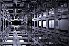 Espacio cúbico Foto de archivo