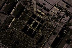 Espacio cúbico Imagen de archivo