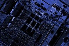 Espacio cúbico azul Fotos de archivo libres de regalías