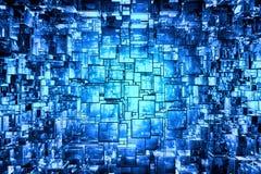 Espacio cúbico azul Fotografía de archivo libre de regalías