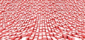 Espacio curvado rojo Foto de archivo libre de regalías