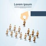 Espacio 3d de Person Candidate People Group Copy del negocio de la cosecha de la mano del reclutamiento isométrico Imagenes de archivo