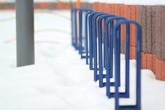 Espacio de estacionamiento para las bicicletas Imagenes de archivo