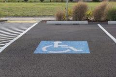 Espacio de estacionamiento perjudicado Imagenes de archivo