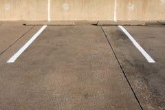 Espacio de estacionamiento vacío Imagen de archivo libre de regalías