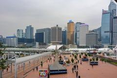 Espacio de evento central de Harbourfront cerca del embarcadero central en Hong Kong fotografía de archivo
