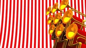 Espacio de Fanfare On Red White Text stock de ilustración
