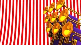 Espacio de Fanfare On Red White Text ilustración del vector