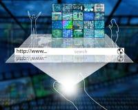 Espacio de Internet Imagen de archivo libre de regalías