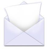 Espacio de la copia de carta del sobre Fotografía de archivo