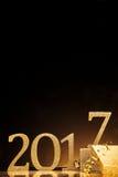 Espacio de la copia de la copia oscura sobre 2017 números Imagen de archivo libre de regalías