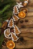 Espacio de la copia de las galletas de Navidad Fotos de archivo