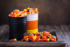 Espacio de la copia del caramelo de Halloween Foto de archivo libre de regalías