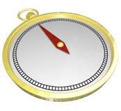 Espacio de la copia del espacio en blanco de la dirección de la navegación de la ayuda de la dirección del compás del oro Foto de archivo libre de regalías