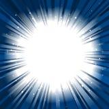 Espacio de la copia del fondo de la explosión de la estrella Imagenes de archivo