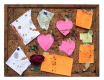 Espacio de la copia desgastada y sucio, libre del tablón de anuncios sucio, Foto de archivo libre de regalías