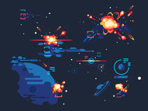 Espacio de la estrella de la batalla stock de ilustración