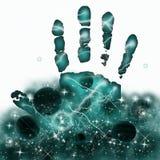 Espacio de la mano imagenes de archivo