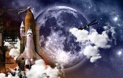 Espacio de la misión imagen de archivo