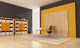 Espacio de oficina anaranjado Foto de archivo libre de regalías