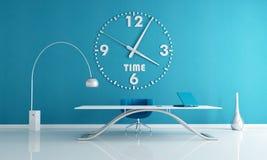 Espacio de oficina azul Fotografía de archivo libre de regalías