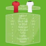 Espacio de Team Player Charts Editable With del fútbol para el texto Imágenes de archivo libres de regalías