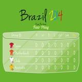 Espacio de Team Player Charts Editable With del fútbol para el texto Fotos de archivo libres de regalías