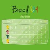 Espacio de Team Player Charts Editable With del fútbol para el texto Foto de archivo libre de regalías
