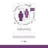 Espacio de Team Web Banner With Copy de los trabajadores del negocio de los empleados Fotografía de archivo libre de regalías