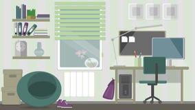 Espacio de trabajo casero adolescente Imagen de archivo libre de regalías