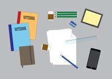 Espacio de trabajo de la tabla Foto de archivo libre de regalías