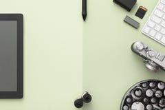 Espacio de trabajo elegante Endecha plana fotos de archivo libres de regalías
