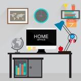 Espacio de trabajo para el freelancer y el estudio Imágenes de archivo libres de regalías