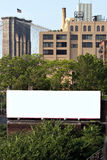 Espacio del anuncio de la cartelera de la ciudad Foto de archivo