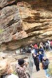 Espacio del corte de la roca en la montaña de las hermanas Fotos de archivo libres de regalías