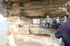 Espacio del corte de la roca en la montaña de las hermanas Fotos de archivo